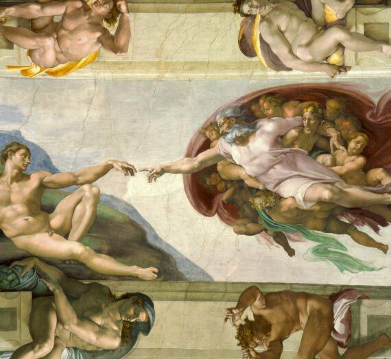 Le détournement de La Création d'Adam de Michel-Ange dans la publicité