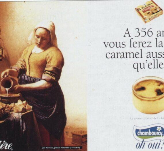 Le détournement des peintures du baroque dans les annonces publicitaires